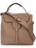 Tod's - New Joy Tobacco Leather Medium Tote Bag