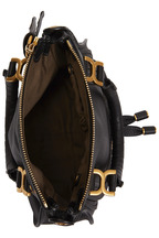 Chloé - Marcie Black Textured Leather Shoulder Bag