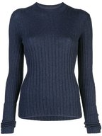 Vince - Ink & Coastal Cashmere Mixed Ribbed Top