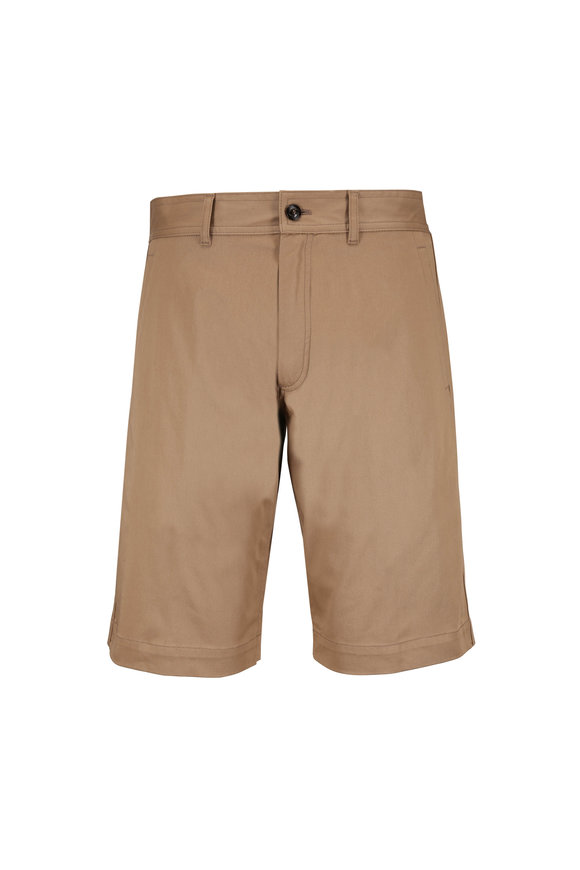 Moncler Camel Stretch Cotton Bermuda Shorts