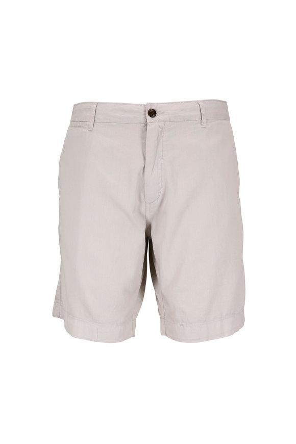 Faherty Brand Harbor Stone Stretch Cotton Shorts