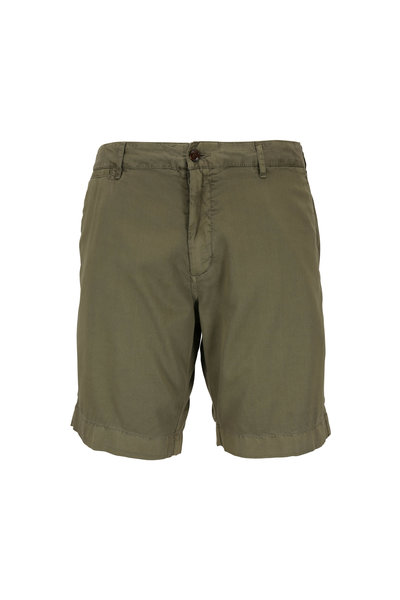 Faherty Brand - Harbor Olive Stretch Cotton Shorts