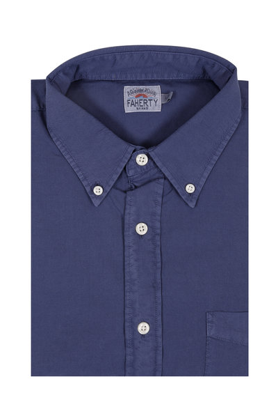 Faherty Brand - Solid Navy Blue Sport Shirt