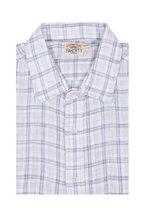 Faherty Brand - Ventura Gray Plaid Linen Sport Shirt