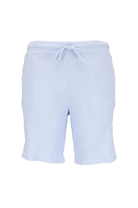 04651/ Sky Blue Terry Bermuda Shorts
