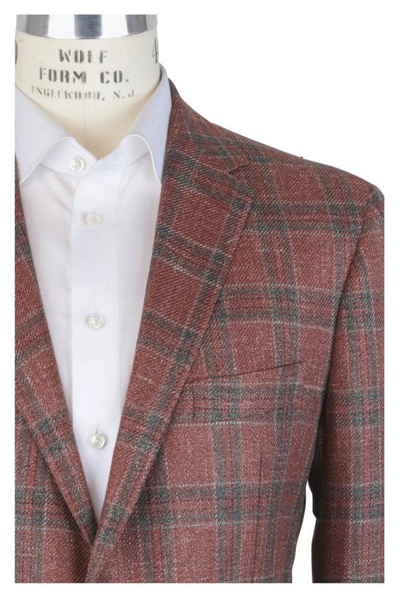 Mauro Blasi Rust Wool, Silk & Linen Sportcoat