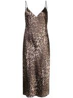 L'Agence - Jodie Olive Leopard Print Silk Slip Dress