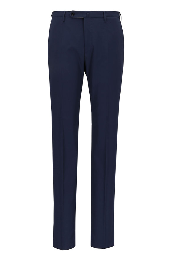 Incotex Navy Blue Modern Fit Pants