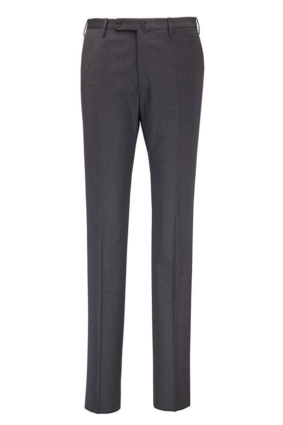 Incotex Charcoal Gray Techno Wool Modern Fit Pant