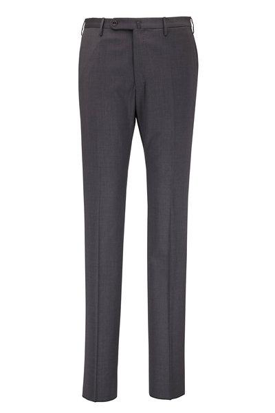 Incotex - Matty Charcoal Gray Techno Wool Modern Fit Pant