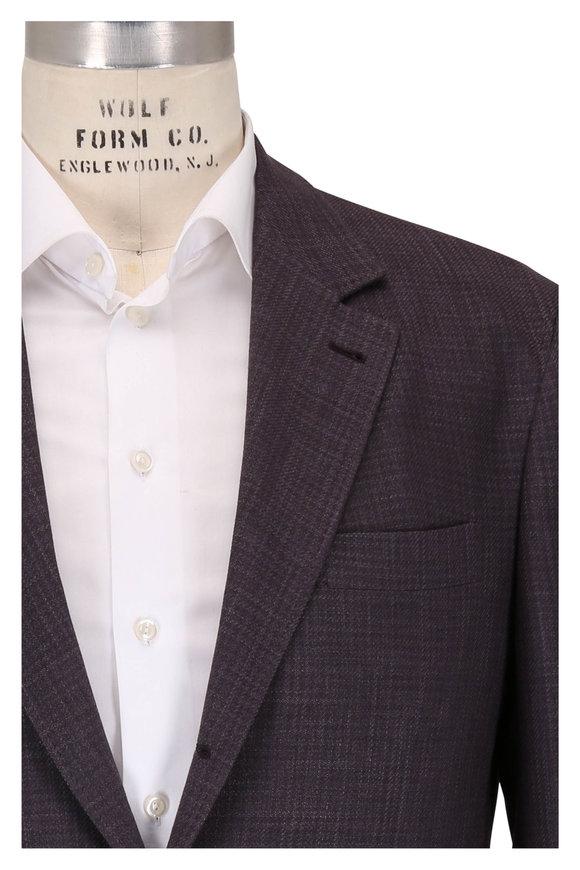 Brunello Cucinelli Grape Wool, Silk & Linen Hopsack Sportcoat