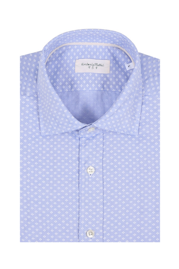 Tintoria Blue & White Diamond Sport Shirt