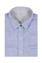 Faherty Brand - Gray & Blue Reversible Cotton Sport Shirt