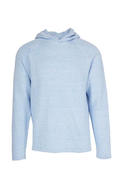 04651/ - Sky Blue Linen & Cotton Hoodie