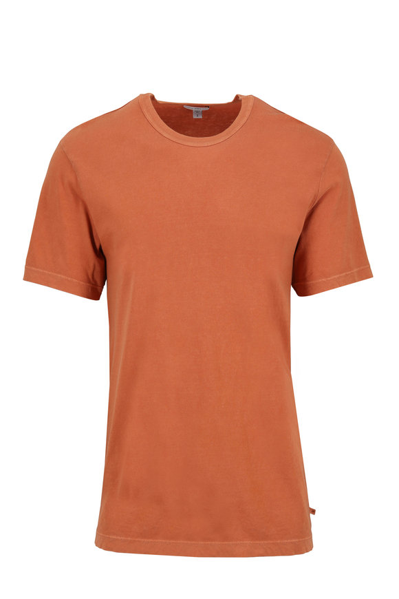 James Perse Orange Cotton Short Sleeve T-Shirt