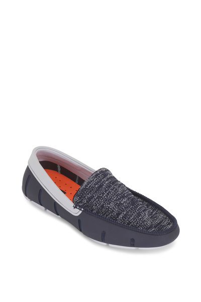 Swims - Navy Blue & Alloy Classic Venetian Loafer