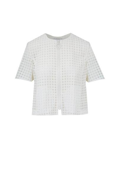 Akris Punto - Cream Shadow Dot Crop Jacket