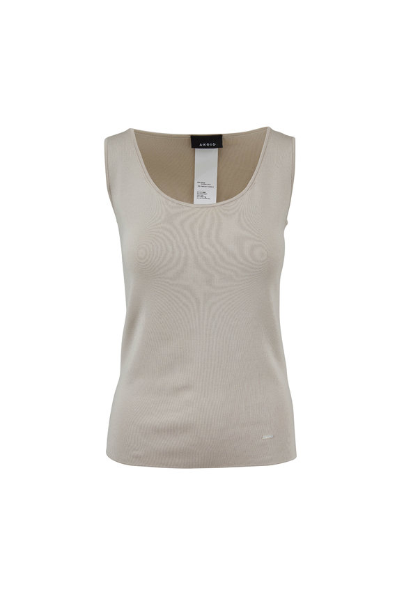 Akris Canvas Stretch Silk Knit Tank Top