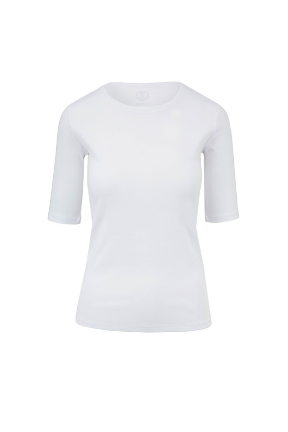 Bogner Velvet White Elbow Sleeve T-Shirt