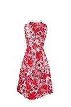 Carolina Herrera - Hibiscus Floral Print A-Line Sleeveless Dress