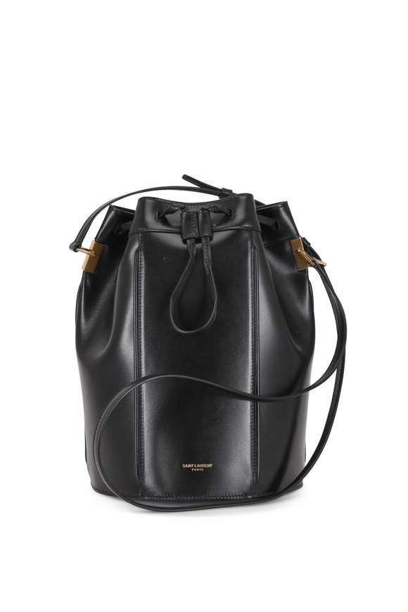 Saint Laurent Talitha Black Leather Medium Bucket Bag
