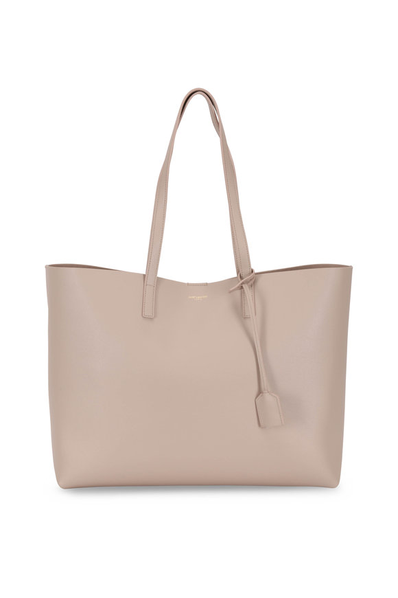 Saint Laurent Natural Leather Large Shopper Tote