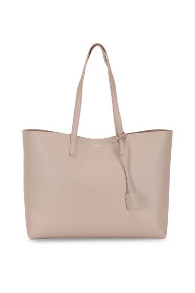 Saint Laurent - Natural Leather Large Shopper Tote