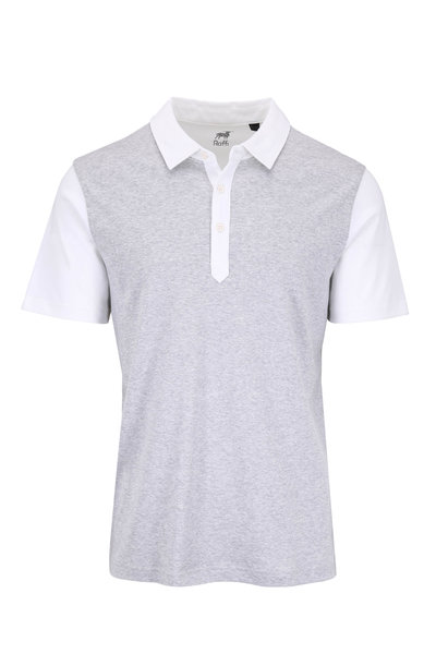 Raffi - Gray & White Colorblock Polo