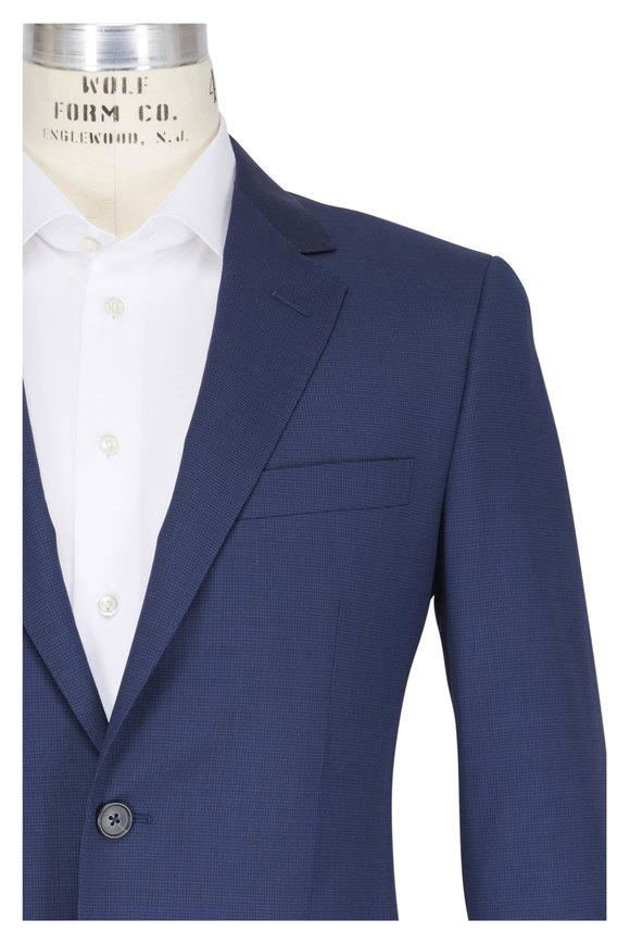 Lanvin Blue 130s Wool Micro Texture Suit