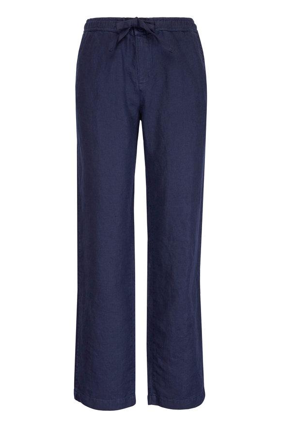 Orlebar Brown Stoneleigh Navy Linen Pant