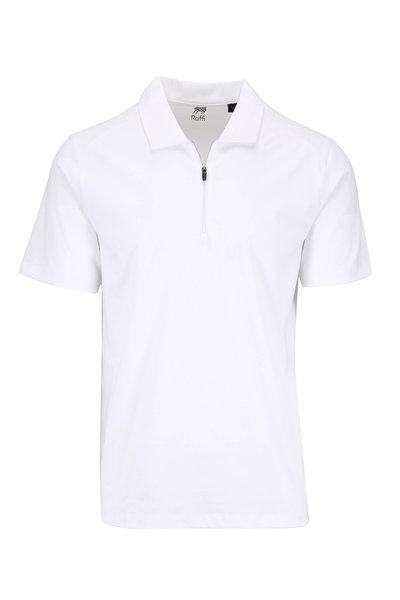 Raffi - White Quarter-Zip Short Sleeve Polo
