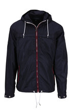Polo Ralph Lauren - Anorak Navy Nylon Contrast Placket Hooded Jacket