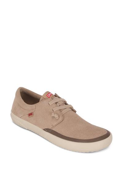 Camper - Peu Beige Suede Elasticized Laces Sneaker