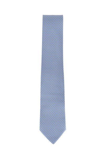 Salvatore Ferragamo - Blue Star Printed Silk Necktie