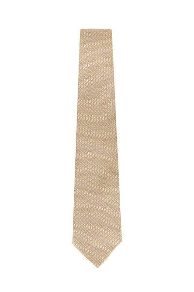 Salvatore Ferragamo - Yellow Star Printed Silk Necktie