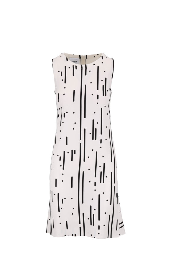 Akris Punto Black & White Peplum Hem Sleeveless Dress