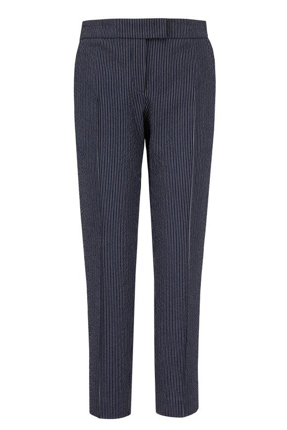 Akris Punto Frankie Navy & White Striped Pant