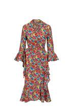 Michael Kors Collection - Floral Crepe De Chine Ruffled Wrap Dress