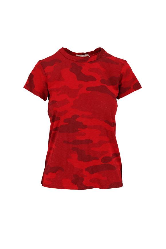Rag & Bone Red Camo Pima Cotton T-Shirt