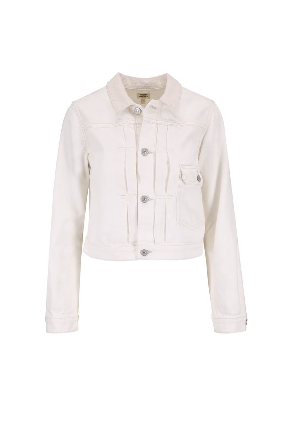 Citizens of Humanity Dillion Off White Crop Jean Jacket