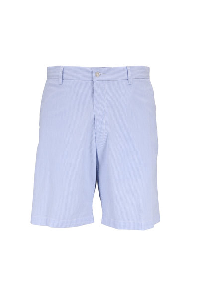Peter Millar - Light Blue Pinstriped Shorts