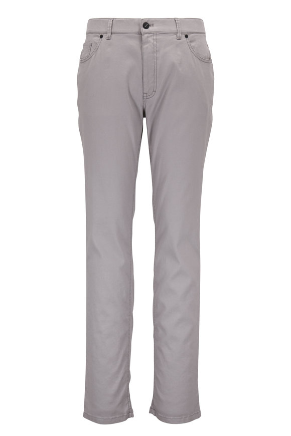 Hiltl Light Gray Linen & Cotton Five Pocket Pant