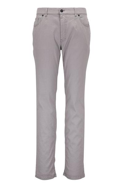 Hiltl - Light Gray Linen & Cotton Five Pocket Pant