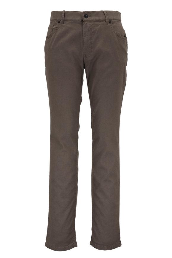 Hiltl Light Olive Green Linen & Cotton Five Pocket Pant