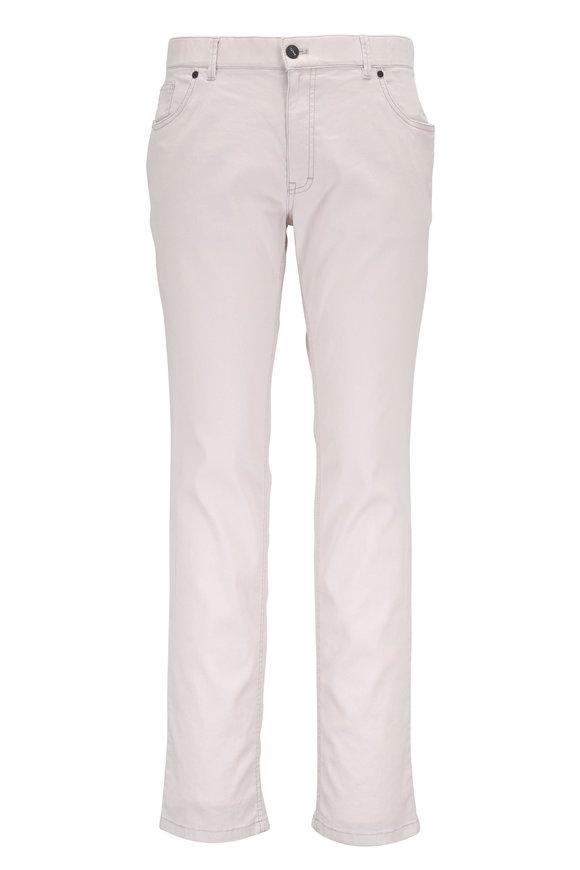 Hiltl Beige Linen & Cotton Five Pocket Pant