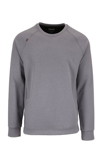 Rhone Apparel - Gray Raglan Sleeve Crewneck Top