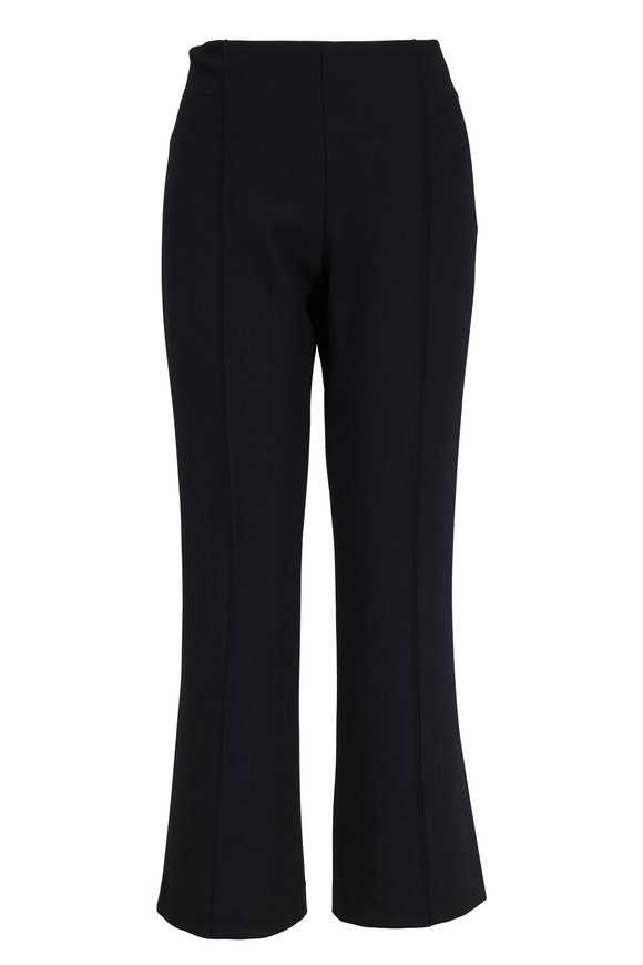 The Row Beca Black Flare Side Zip Pant