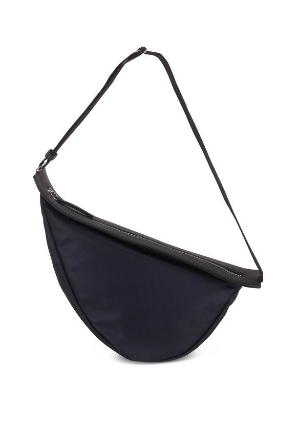 The Row Navy Blue Nylon Slouchy Banana Crossbody Bag