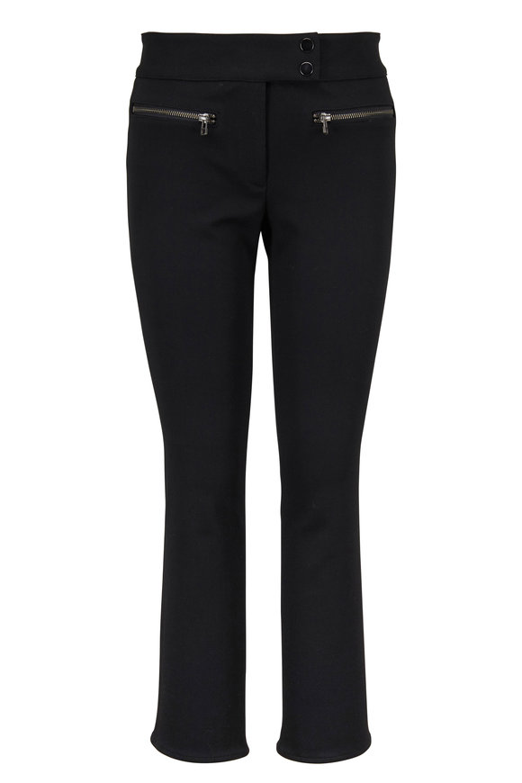Veronica Beard Metro Black Cropped Kick Flare Pant