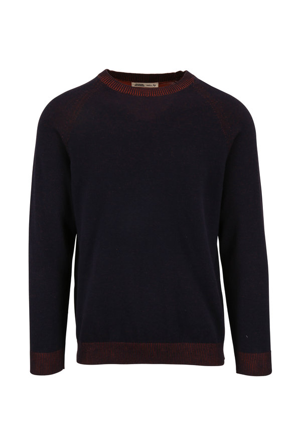 Maurizio Baldassari Navy & Orange Cotton Crewneck Pullover